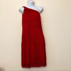 Chelsea & Violet Red Flapper Dress